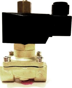 Электромагнитный клапан для воды или воздуха. Латунный